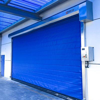 保温快速门在上海某生鲜仓库项目安装完毕