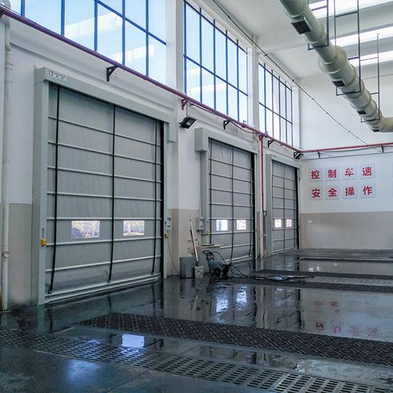 杭州市餐厨处理基地堆积快速门